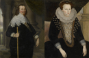 Sir Jonathan Trelawny and his mother, Lady Trelawny by  English School 17th Century