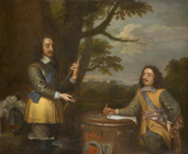 Charles I with Sir Edward Walker by  English School 17th Century