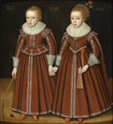 Portrait of Stephen and Mary Phesant by  English School 17th Century