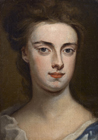 Portrait head of a Lady by Sir Godfrey Kneller Bt.