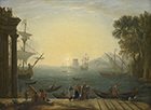 The Embarkation of St Paula by Claude Gelle, called Le Lorrain