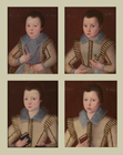 Four sons of Sir John ffoliott by  English School
