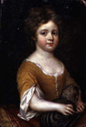 Young girl with a cat by Mary Beale