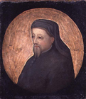 Geoffrey Chaucer by  English School